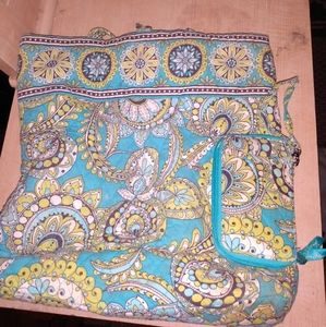 Vera bradley handbag with wallet